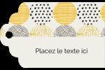 Cercles urbains jaunes Étiquettes imprimables - gabarit prédéfini. <br/>Utilisez notre logiciel Avery Design & Print Online pour personnaliser facilement la conception.
