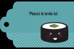 Émoticônes de sushis Étiquettes imprimables - gabarit prédéfini. <br/>Utilisez notre logiciel Avery Design & Print Online pour personnaliser facilement la conception.