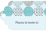 Cercles urbains bleus Étiquettes imprimables - gabarit prédéfini. <br/>Utilisez notre logiciel Avery Design & Print Online pour personnaliser facilement la conception.