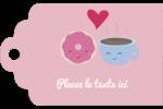 Amours, délices et café Étiquettes imprimables - gabarit prédéfini. <br/>Utilisez notre logiciel Avery Design & Print Online pour personnaliser facilement la conception.