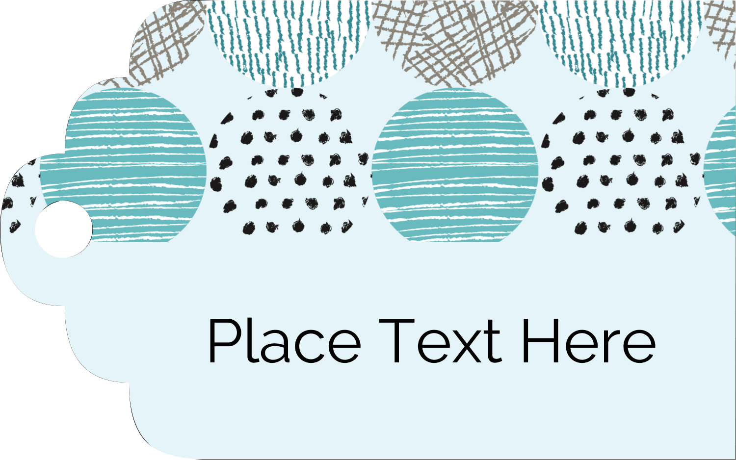 "2"" x 1⅛"" Printable Tags - Urban Circles Blue"