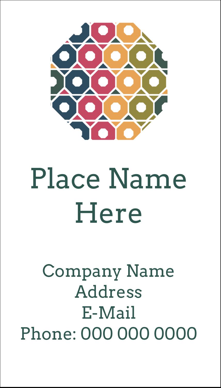 """3½"""" x 2"""" Business Card - Business Hexagon"""