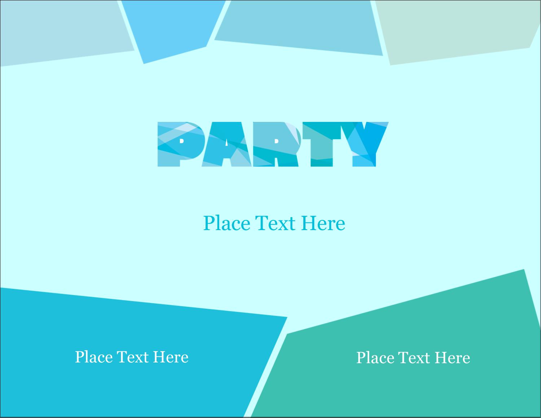 """4¼"""" x 5½"""" Postcard - Cool Color Palette"""
