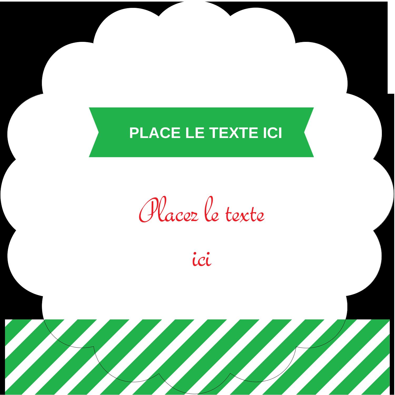 """2½"""" Diameter Étiquettes rondes - Ornements de Noël"""