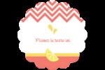 Fruits roses Étiquettes rondes - gabarit prédéfini. <br/>Utilisez notre logiciel Avery Design & Print Online pour personnaliser facilement la conception.