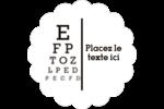 Tableau oculaire Étiquettes festonnées - gabarit prédéfini. <br/>Utilisez notre logiciel Avery Design & Print Online pour personnaliser facilement la conception.