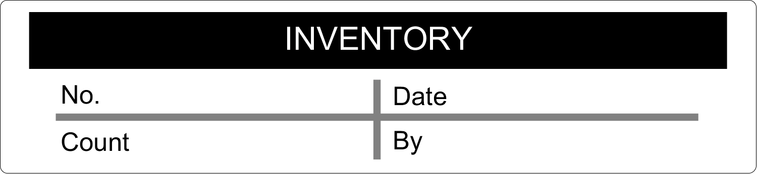 x  Industrial Label - Inventory