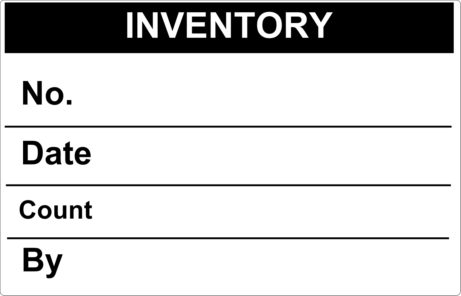 "5"" x 7½"" Industrial Label - Inventory"