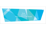 Palette de couleurs froides Étiquettes d'adresse - gabarit prédéfini. <br/>Utilisez notre logiciel Avery Design & Print Online pour personnaliser facilement la conception.