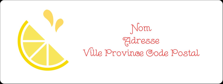 """1"""" x 4"""" Étiquettes d'adresse - Fruits roses"""