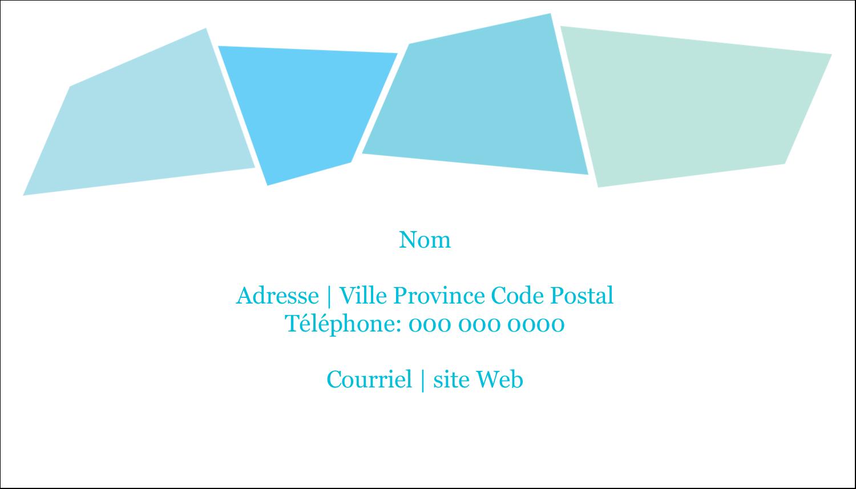 """2"""" x 3½"""" Carte d'affaire - Palette de couleurs froides"""
