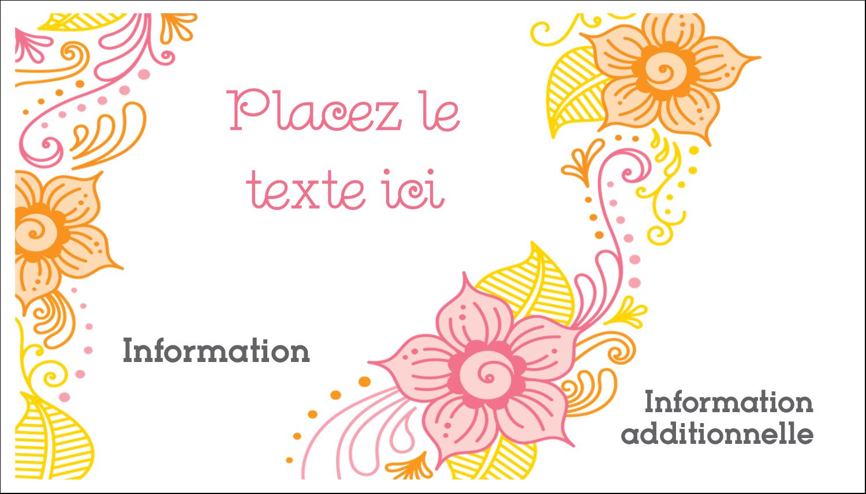 Jolis pétales chaleureux Carte d'affaire - gabarit prédéfini. <br/>Utilisez notre logiciel Avery Design & Print Online pour personnaliser facilement la conception.