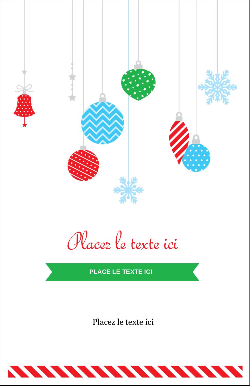 """8½"""" x 11"""" Binder Insert Reliures - Ornements de Noël"""