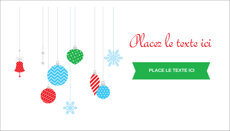 """3"""" x 5"""" Cartes Pour Le Bureau - Ornements de Noël"""