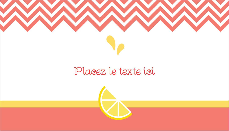"2"" x 3½"" Carte d'affaire - Fruits roses"