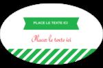 Ornements de Noël Étiquettes carrées - gabarit prédéfini. <br/>Utilisez notre logiciel Avery Design & Print Online pour personnaliser facilement la conception.
