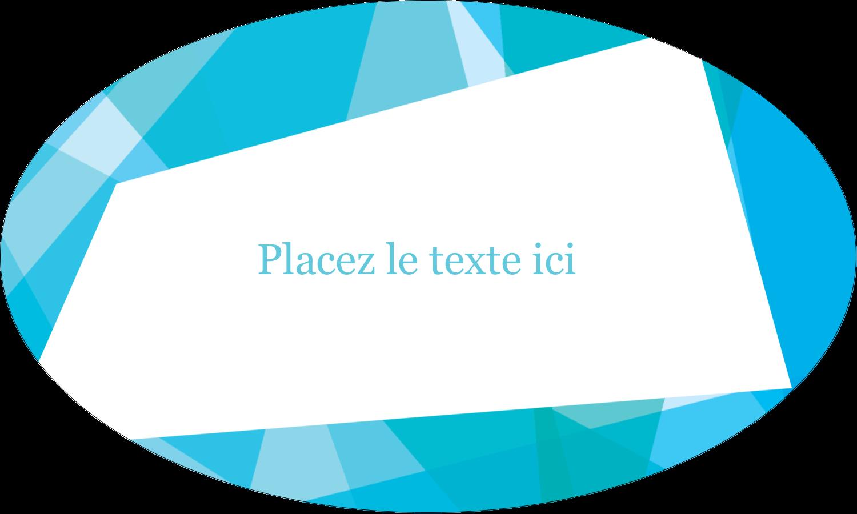 """1½"""" x 1½"""" Étiquettes carrées - Palette de couleurs froides"""