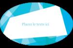Palette de couleurs froides Étiquettes carrées - gabarit prédéfini. <br/>Utilisez notre logiciel Avery Design & Print Online pour personnaliser facilement la conception.
