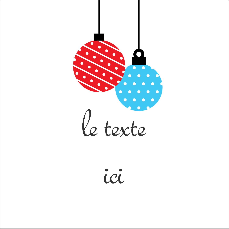"""1½"""" x 1½"""" Étiquettes carrées - Ornements de Noël"""