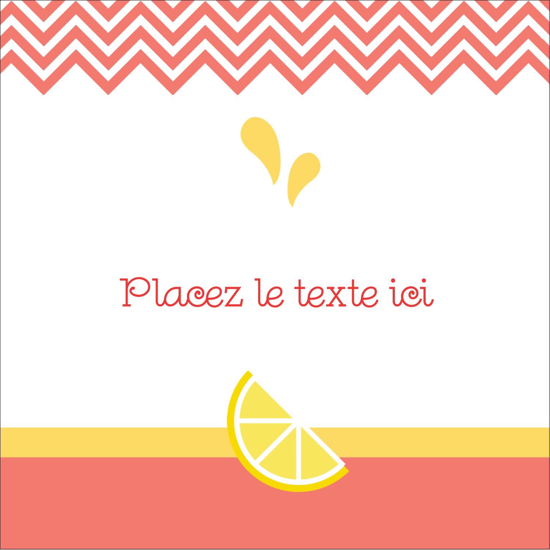 """1½"""" x 1½"""" Étiquettes carrées - Fruits roses"""