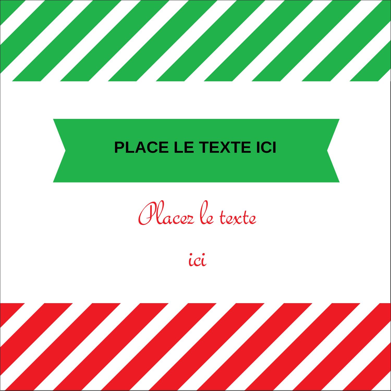 """2"""" Diameter Étiquettes rondes - Ornements de Noël"""