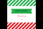 Ornements de Noël Étiquettes enveloppantes - gabarit prédéfini. <br/>Utilisez notre logiciel Avery Design & Print Online pour personnaliser facilement la conception.