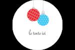 Ornements de Noël Étiquettes rondes - gabarit prédéfini. <br/>Utilisez notre logiciel Avery Design & Print Online pour personnaliser facilement la conception.