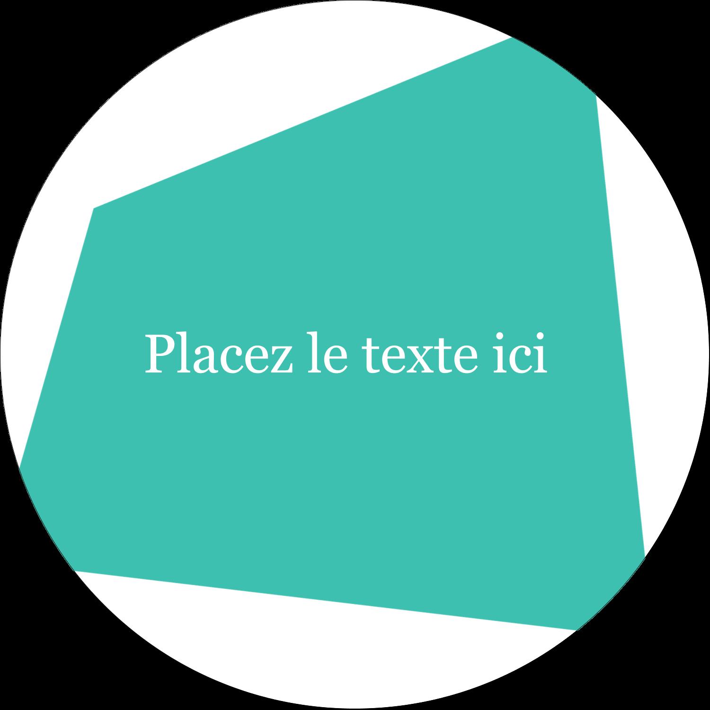 """2½"""" Diameter Étiquettes rondes - Palette de couleurs froides"""