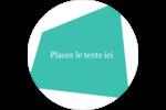 Palette de couleurs froides Étiquettes rondes - gabarit prédéfini. <br/>Utilisez notre logiciel Avery Design & Print Online pour personnaliser facilement la conception.