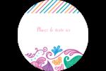 Jolis pétales frais Étiquettes rondes - gabarit prédéfini. <br/>Utilisez notre logiciel Avery Design & Print Online pour personnaliser facilement la conception.