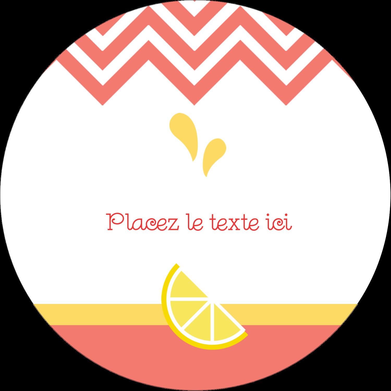 """2½"""" Diameter Étiquettes rondes - Fruits roses"""