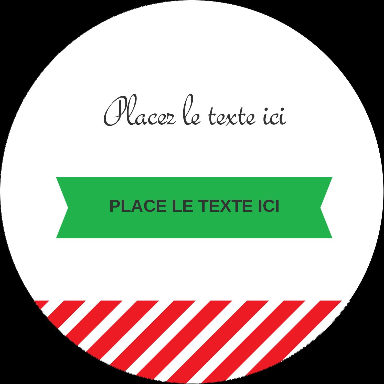 """3"""" x 2¼"""" Étiquettes arrondies - Ornements de Noël"""