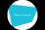 Palette de couleurs froides Étiquettes arrondies - gabarit prédéfini. <br/>Utilisez notre logiciel Avery Design & Print Online pour personnaliser facilement la conception.