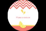 Fruits roses Étiquettes arrondies - gabarit prédéfini. <br/>Utilisez notre logiciel Avery Design & Print Online pour personnaliser facilement la conception.