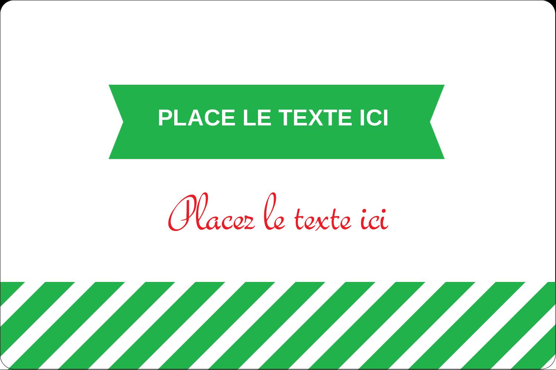 """3"""" x 3¾"""" Étiquettes rectangulaires - Ornements de Noël"""