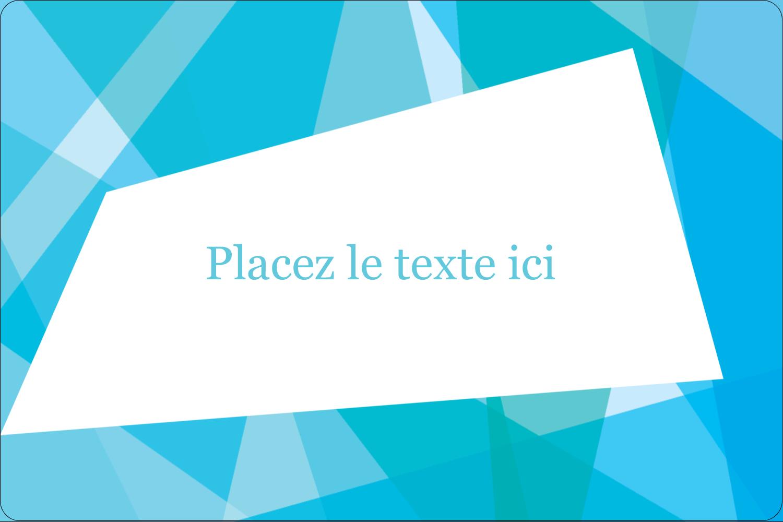 """3"""" x 3¾"""" Étiquettes rectangulaires - Palette de couleurs froides"""