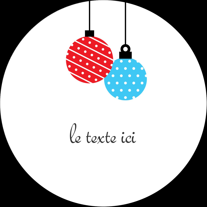 """4¾"""" x 3½"""" Étiquettes arrondies - Ornements de Noël"""