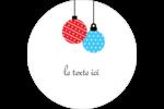 Ornements de Noël Étiquettes arrondies - gabarit prédéfini. <br/>Utilisez notre logiciel Avery Design & Print Online pour personnaliser facilement la conception.