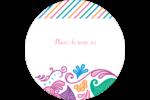Jolis pétales frais Étiquettes arrondies - gabarit prédéfini. <br/>Utilisez notre logiciel Avery Design & Print Online pour personnaliser facilement la conception.