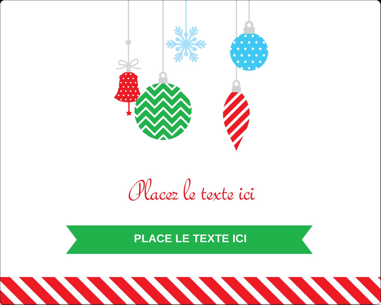 """2"""" Diameter Étiquettes rondes gaufrées - Ornements de Noël"""