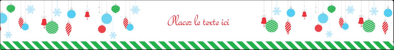 """1½"""" x 2½"""" Étiquettes ovales - Ornements de Noël"""