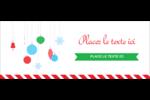 Ornements de Noël Affichette - gabarit prédéfini. <br/>Utilisez notre logiciel Avery Design & Print Online pour personnaliser facilement la conception.
