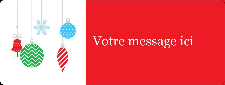"""½"""" x 1¾"""" Étiquettes D'Adresse - Ornements de Noël"""
