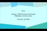 Palette de couleurs froides Carte d'affaire - gabarit prédéfini. <br/>Utilisez notre logiciel Avery Design & Print Online pour personnaliser facilement la conception.