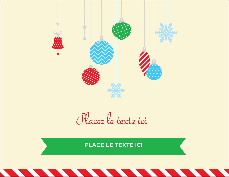 """4¼"""" X 5½"""" Carte Postale - Ornements de Noël"""