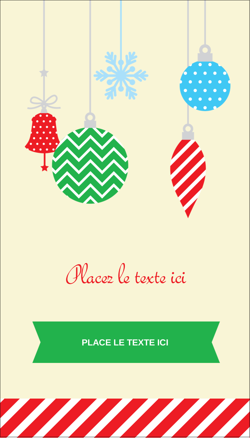 "3½"" x 2"" Carte d'affaire - Ornements de Noël"