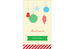Ornements de Noël Carte d'affaire - gabarit prédéfini. <br/>Utilisez notre logiciel Avery Design & Print Online pour personnaliser facilement la conception.