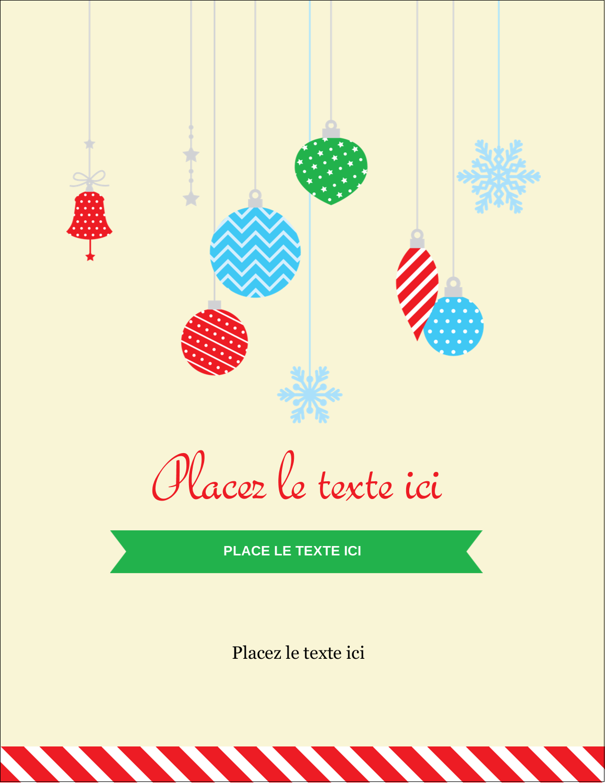 """5½"""" x 4¼"""" Carte Postale - Ornements de Noël"""