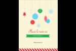 Ornements de Noël Carte Postale - gabarit prédéfini. <br/>Utilisez notre logiciel Avery Design & Print Online pour personnaliser facilement la conception.
