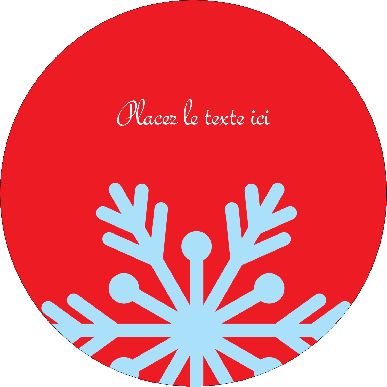 """3"""" Diameter Étiquettes rondes - Ornements de Noël"""